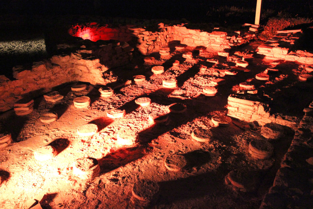 Photo d'un système d'hypocauste